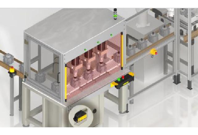 Control de seguridad escalable para procesos de ensamblaje grandes